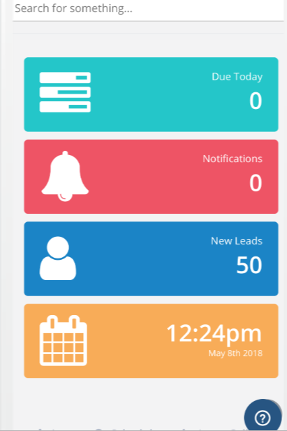 Dashboard that can be accessed on a mobile device