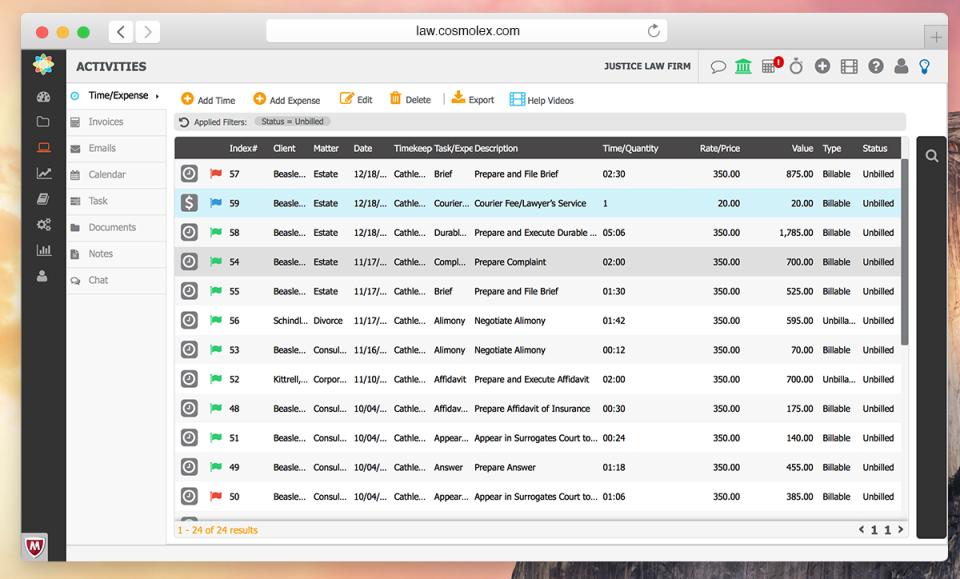 CosmoLex Software - CosmoLex - Time & Expense Tracking Solution