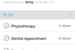 MyCooey screenshot: Follow a customized care plan, create a to-do list, track fitness activity, and more