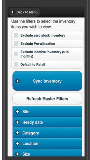 SBI Platform mobile inventory control