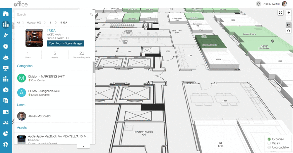 iOFFICE 3D Floor Plan