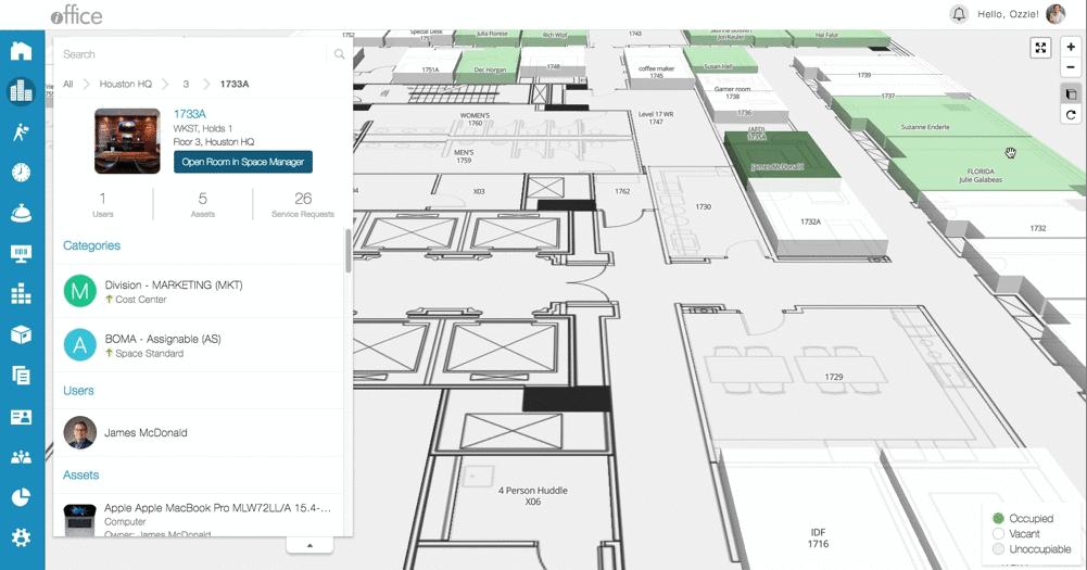 iOFFICE Software - iOFFICE 3D Floor Plan
