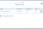 CE Direct screenshot: CE Direct transcript