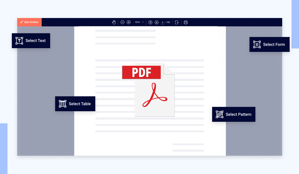 OCR Gateway PDF data extraction