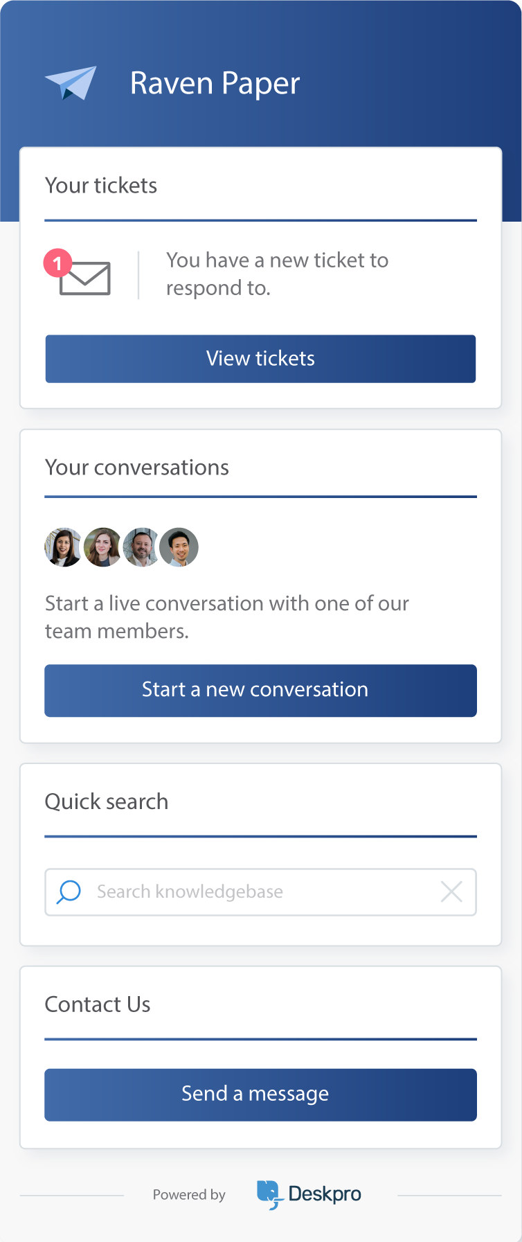 Live Chat (Messenger Widget)