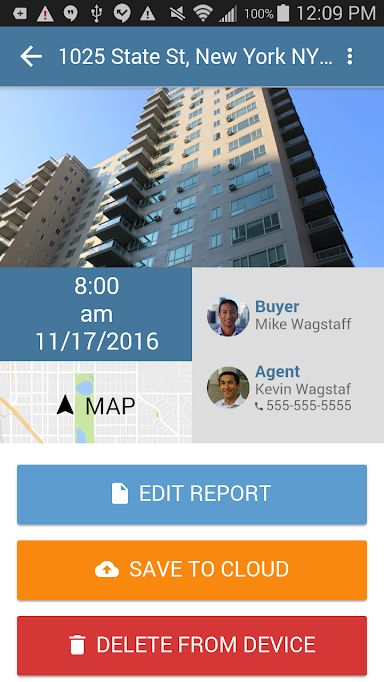Check in to locations when carrying out reports