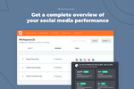 PromoRepublic screenshot: Get a complete overview of your social media performance