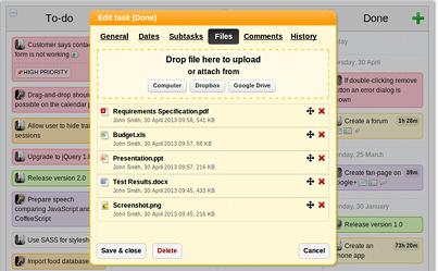KanbanFlow screenshot
