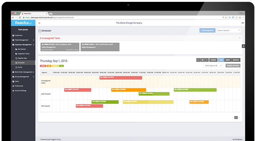 Drag and drop interface for scheduling tasks