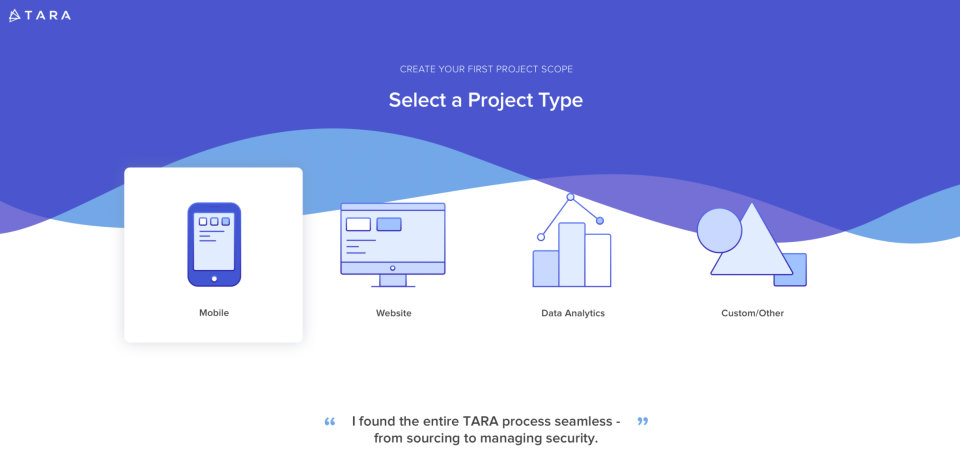 Tara seamlessly manages workflows, providing teams with optimal milestones, task lists, and spec sheets based on their project type