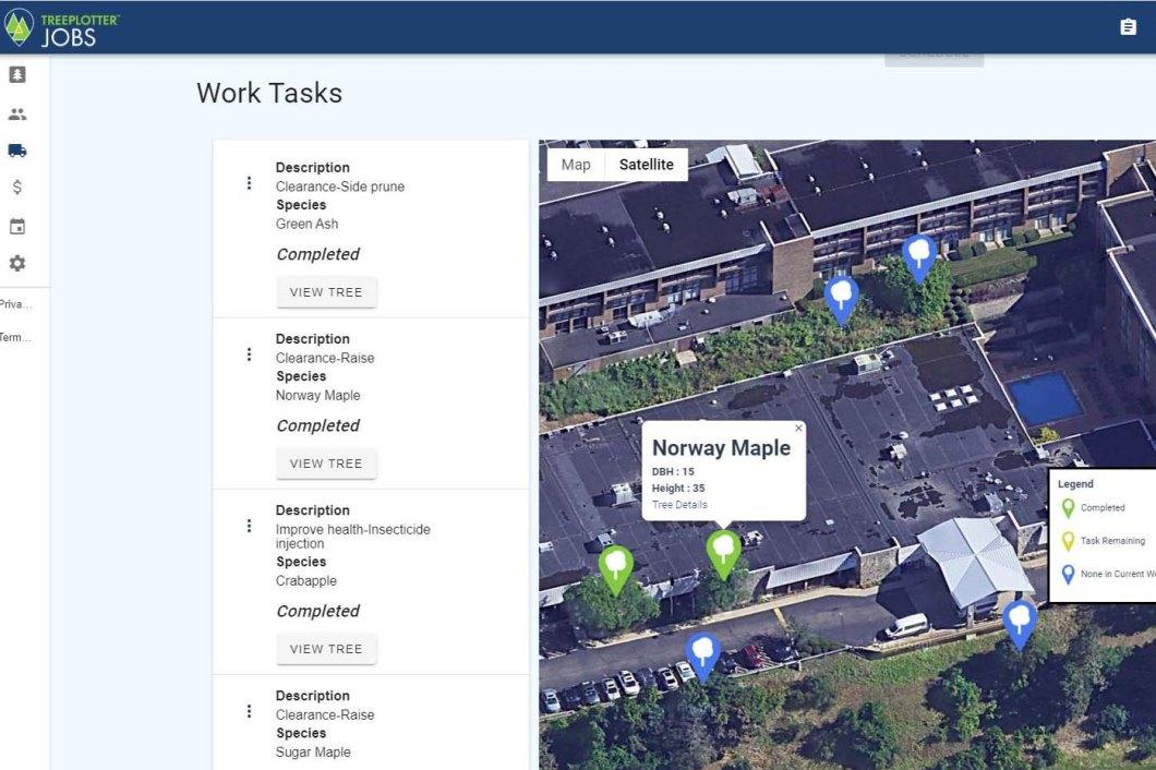 TreePlotter JOBS work order management