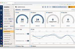 HootSuite screenshot: Analytics & Reporting: Measure the impact of your social media content and gather meaningful insights about your followers in order to make more informed strategic decisions. Create and distribute customizable reports in a variety of formats.
