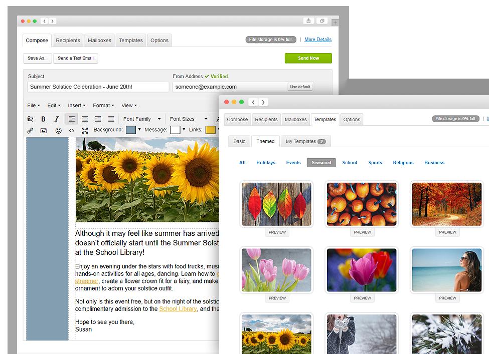 CalendarWiz email marketing