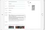Second Canvas screenshot: Upload images of artwork and add information and description in order to provide more insight