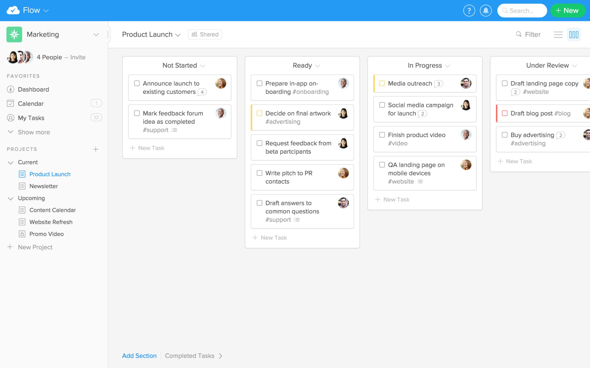 Flow Software - Kanban overview