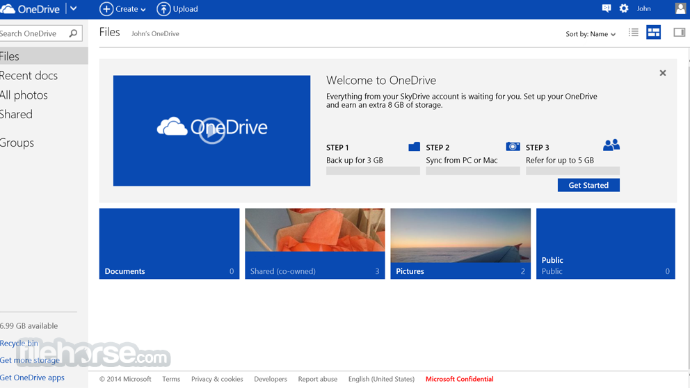 OneDrive Software - Access documents and pictures from a centralized platform