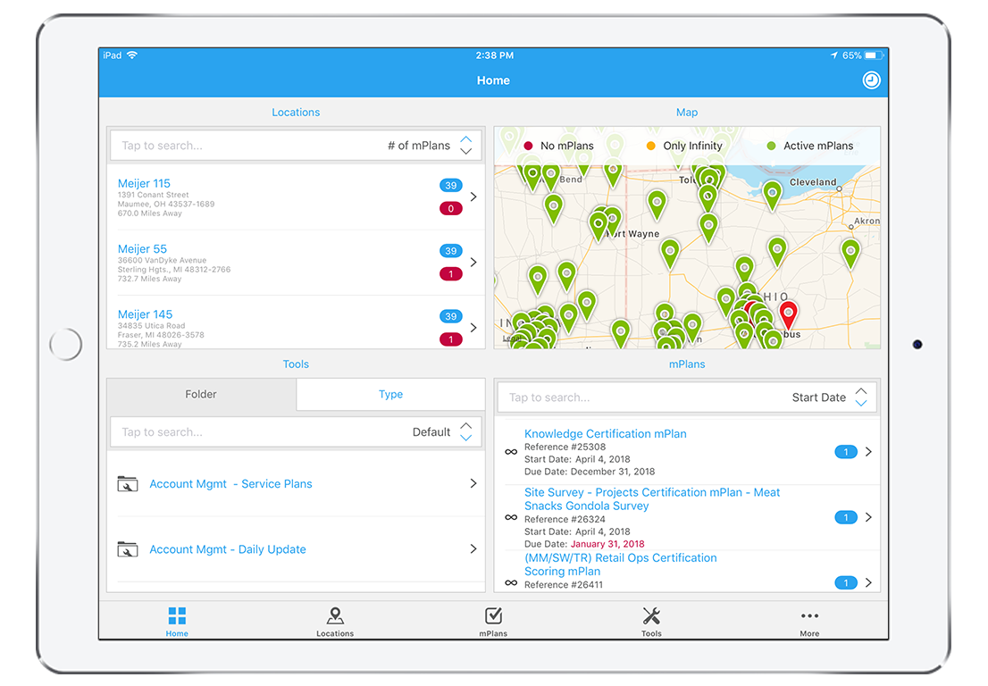 See all employees and locations in real time