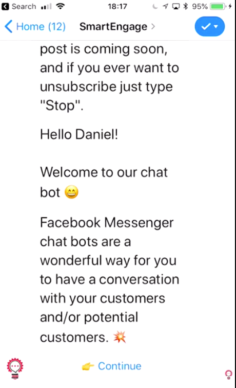 """Bots give you that """"human touch"""" that allows you to make the transition from Messenger into email and push notifications; and ultimately more sales"""