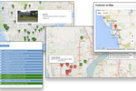 ManageMart screenshot: Route optimization helps employees to navigate their service visits