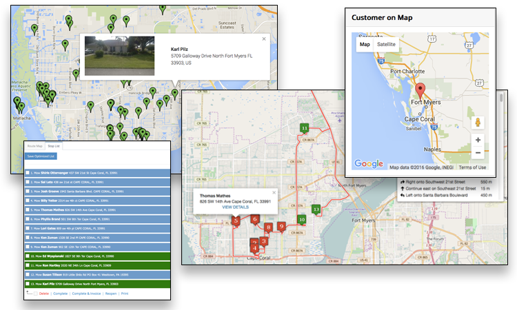 Route optimization helps employees to navigate their service visits