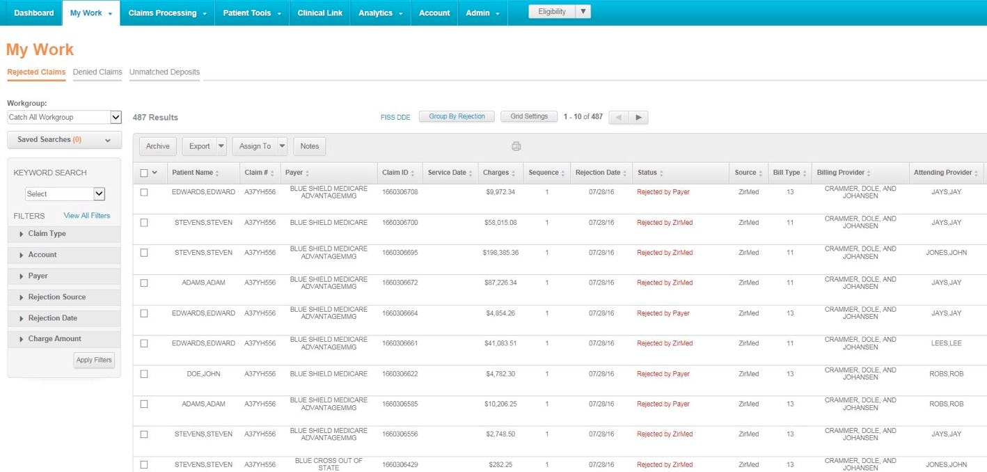 Waystar Software - Claims management