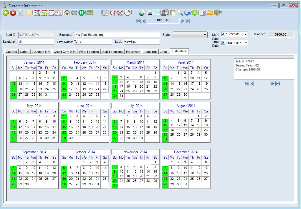 Scheduling Manager Software - Job overview