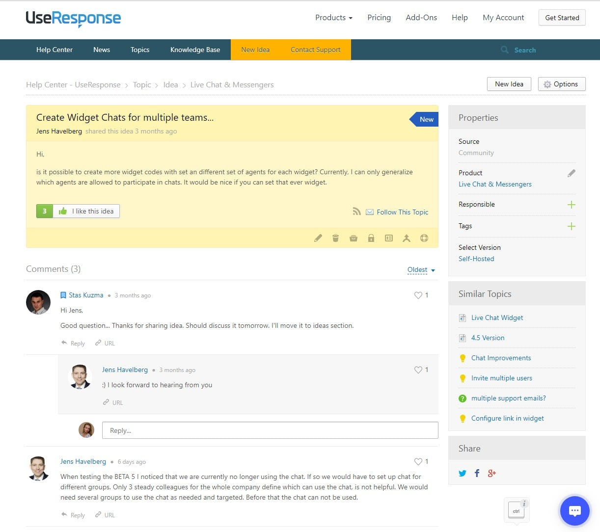 UseResponse Software - Topic Page