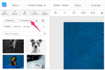 Snappa Screenshot: Snappa repositioning image