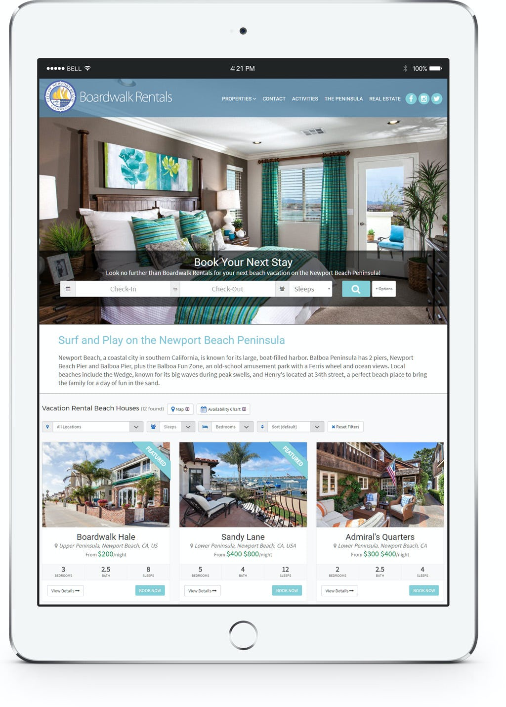 Vacation Rental Desk Software - Mobile access