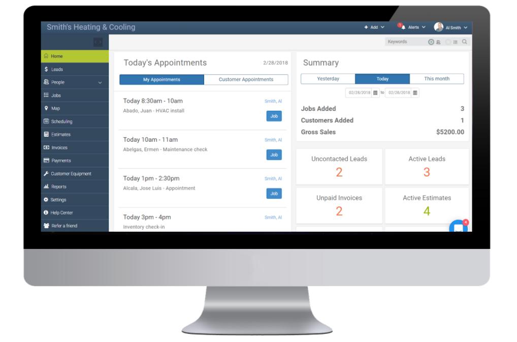 mHelpDesk Software - Dashboard
