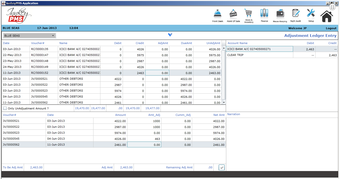 Innkey PMS Software - Accounts receivable and payable
