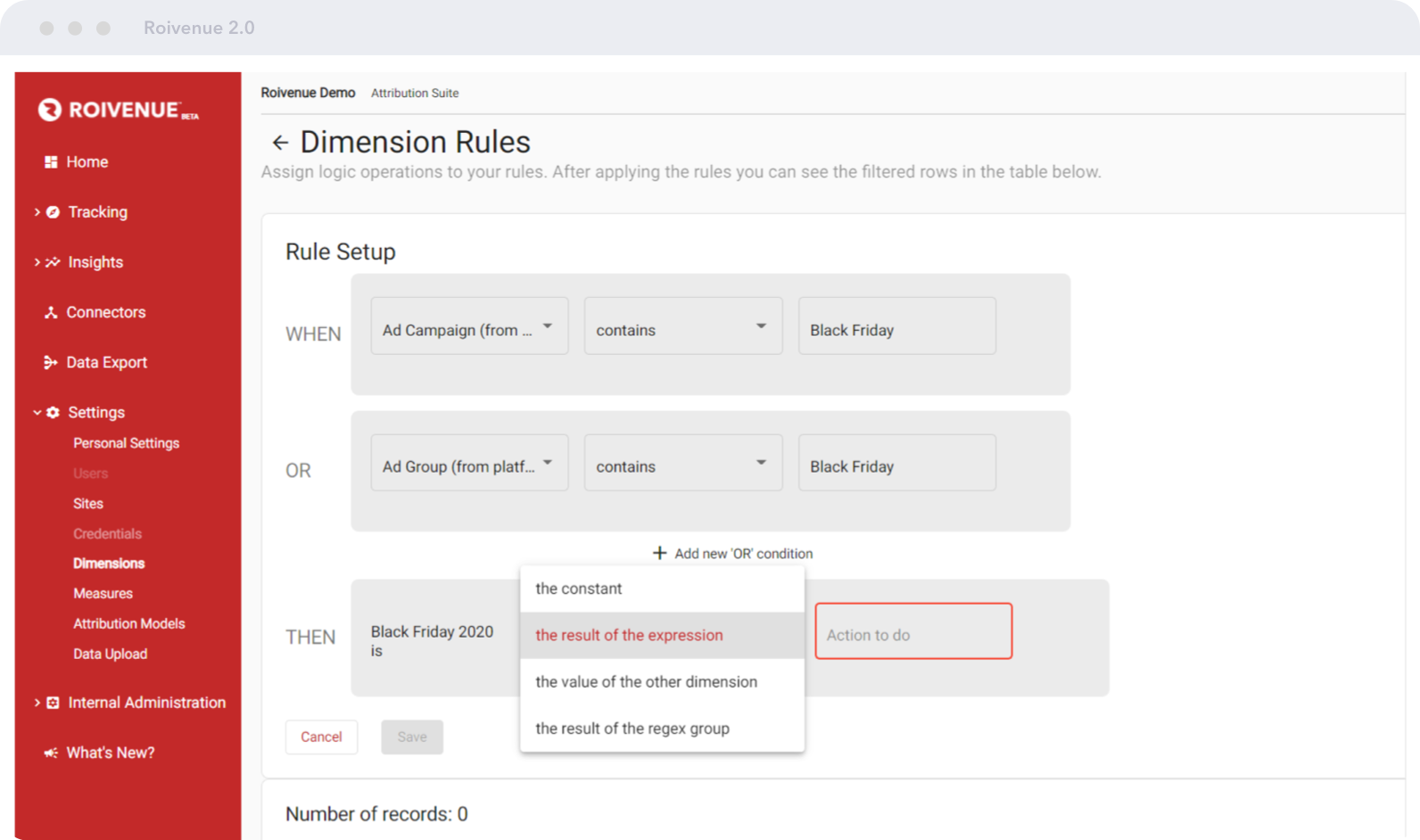 ROIVENUE Metrics editor   Customize your dimensions and metrics   Create custom dimensions or metrics to collect and analyze the data that matters to your business.