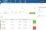 innRoad Screenshot: Reservations can be created within the system, allocating rooms and processing group bookings