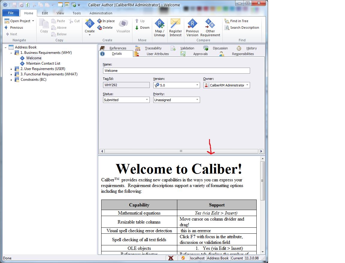 Caliber Author home page