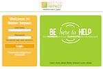 Volunteer Impact screenshot: Administrator Login Screen