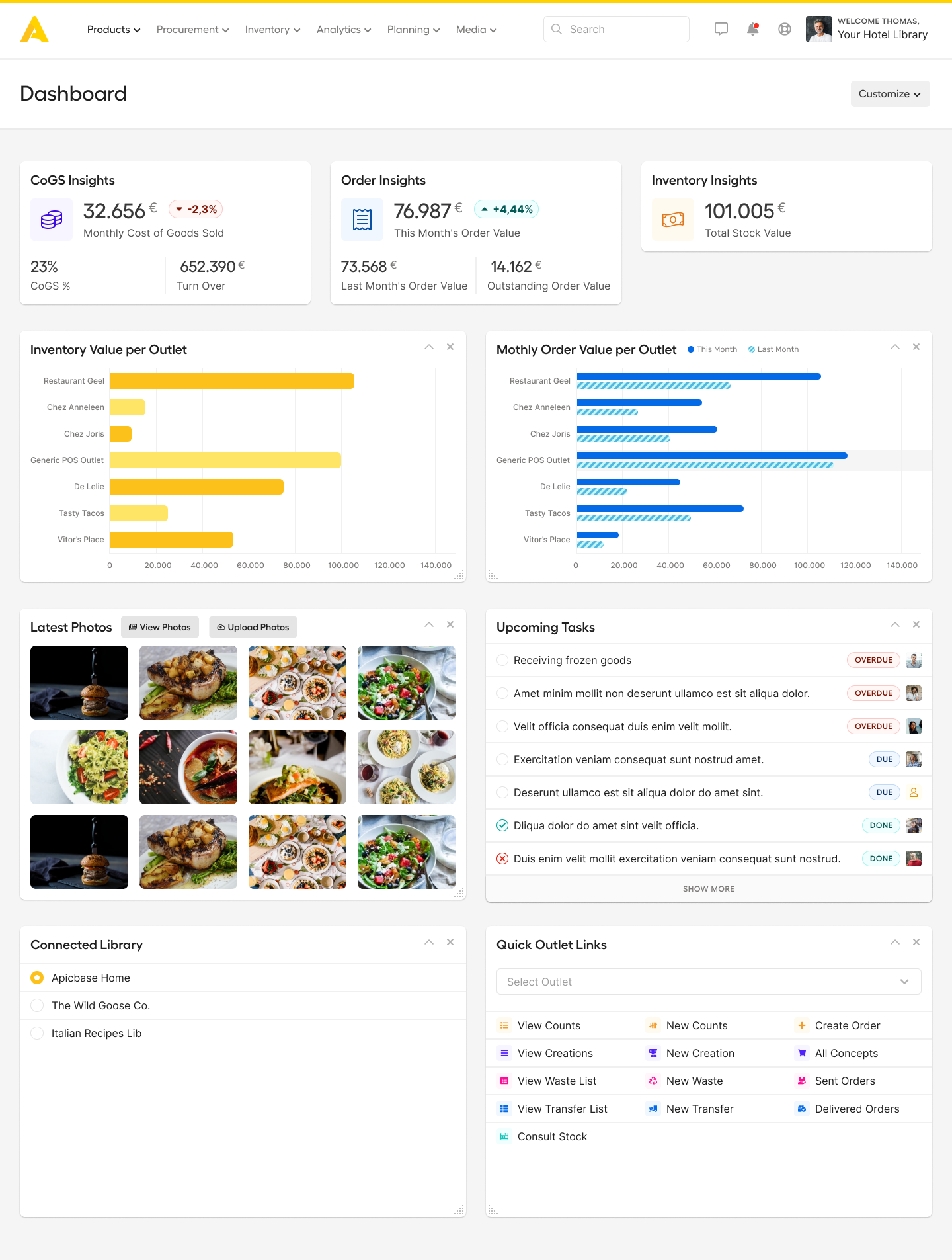 APICBASE Food Management Software - 1