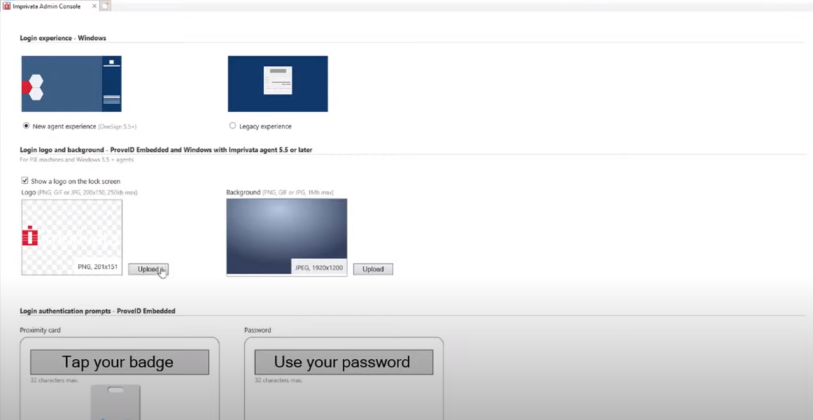 Imprivata OneSign customization