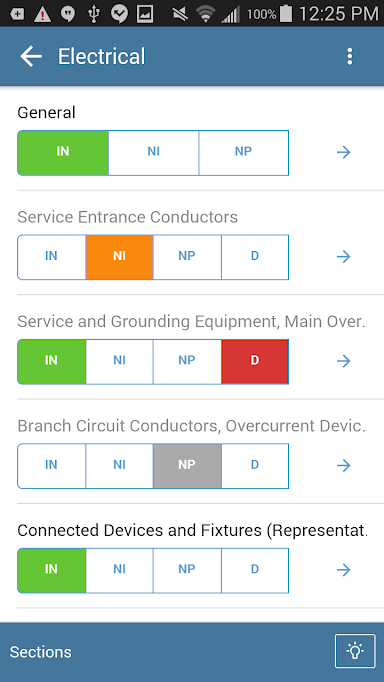 Fill out custom forms to gather the relevant data during inspections