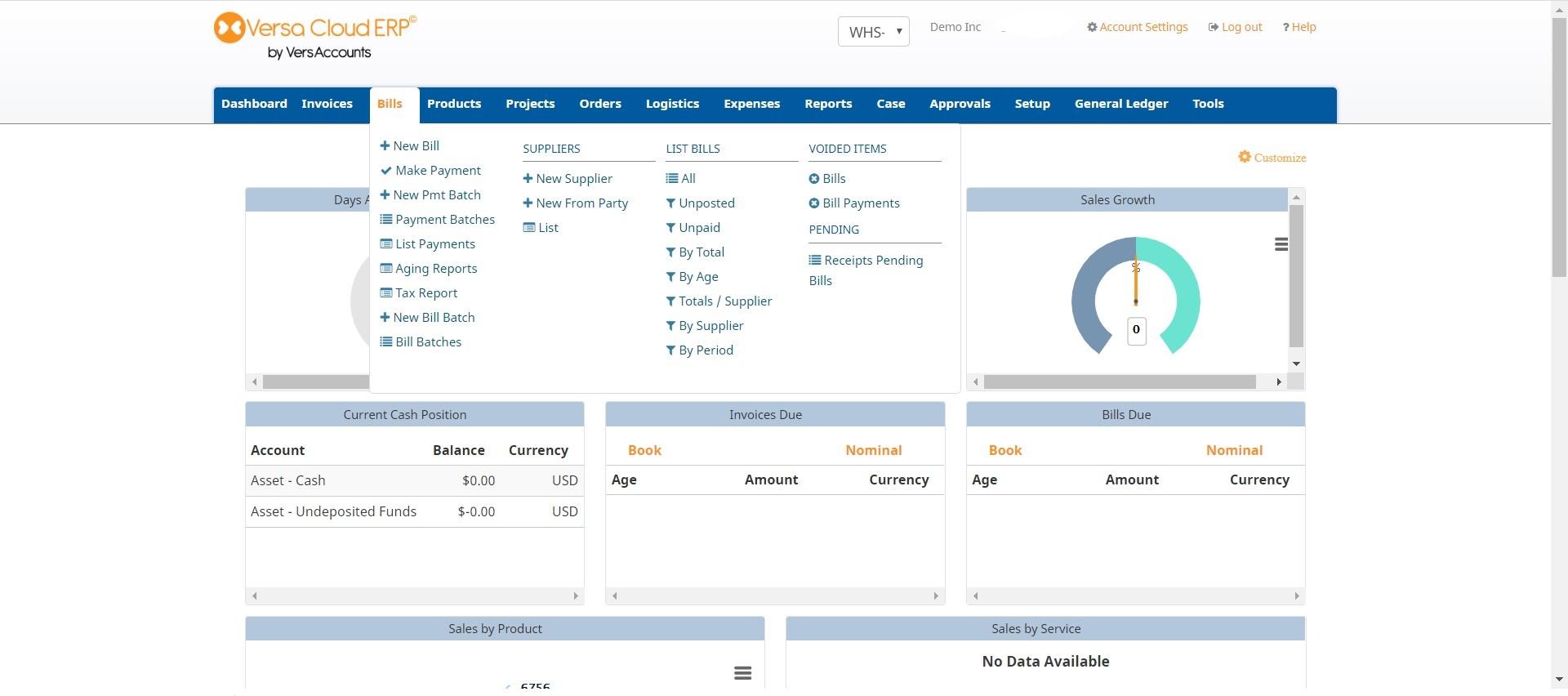 Versa Cloud ERP Software - 2