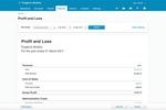 Captura de pantalla de Xero: Xero Profit and Loss Reports