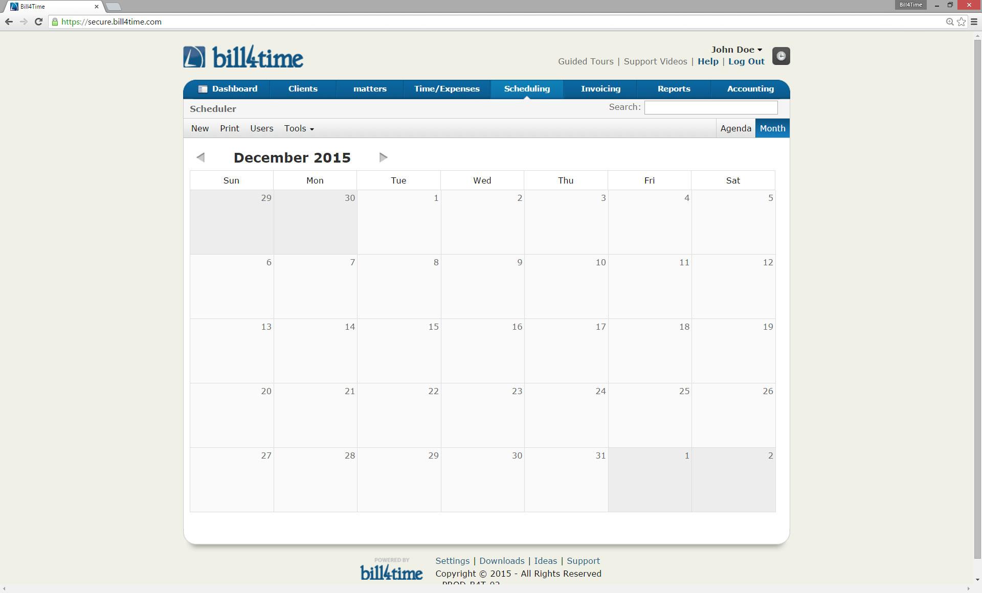 Bill4Time Software - Calendar