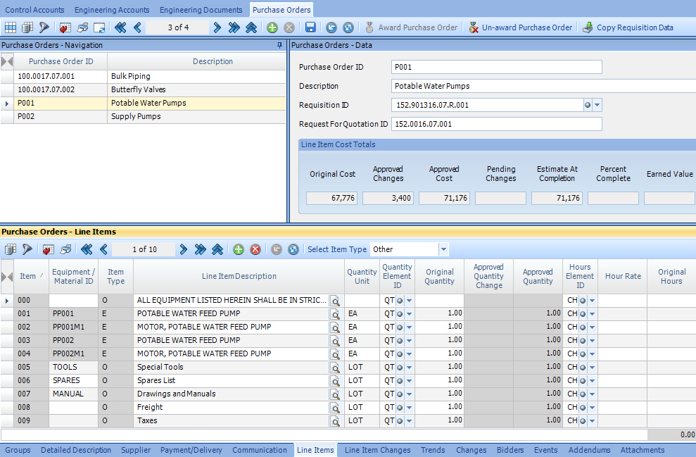 ARES PRISM Software - ARES Prism purchase order management