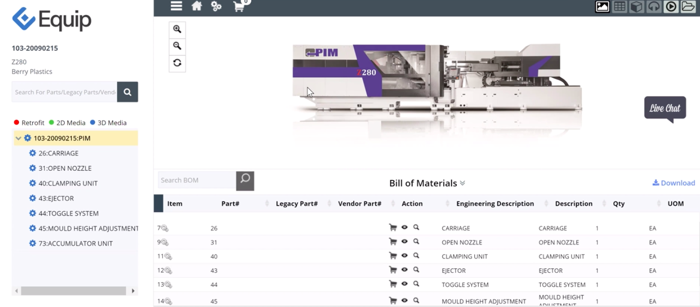 Equip Bill of Materials