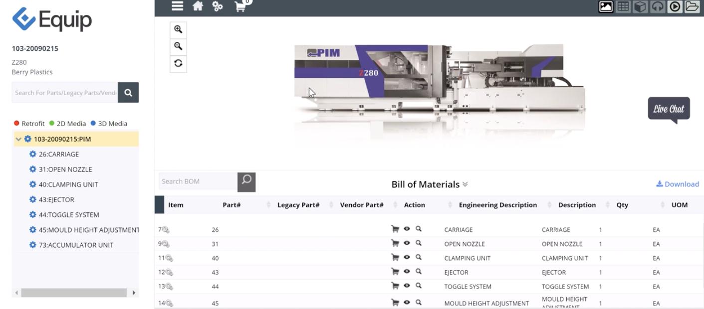 Equip Software - Equip Bill of Materials
