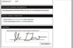 ABC Fitness Solutions screenshot: Users can sign documents for cancellations, freezes, and waivers electronically online