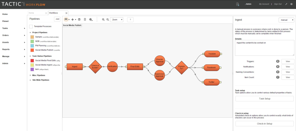 TACTIC workflows