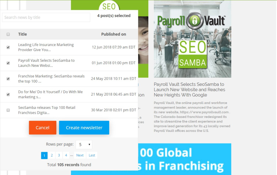 SeoSamba Email Marketing Software - 2