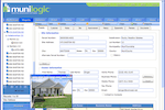 MuniLogic screenshot: MuniLogic property management view with the details of property ownerhip & transfer history