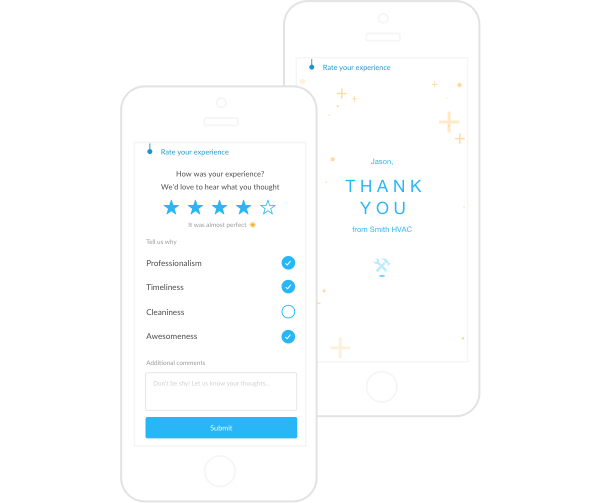 Dispatch customer reviews and ratings