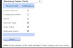 TRAKiT screenshot: Set mandatory fields